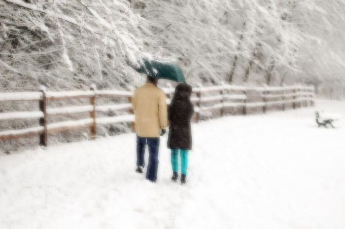 Adult Beauty In Nature Blur Motion Cold Temperature Friendship Nature Outdoors People Snow Snowflake Snowing Togetherness Two People Winter