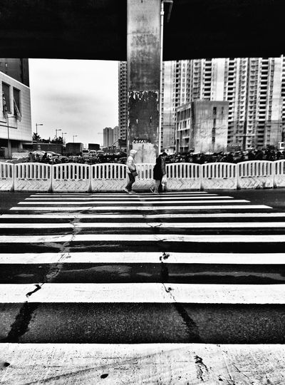 Black And White People Walking  Streetphotography Road City Edge