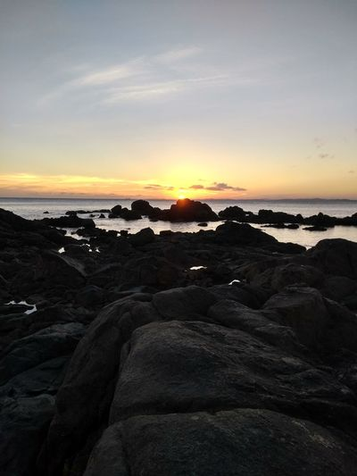 Beauty In Nature Day Landscape Nature No People Outdoors Rock - Object Scenics Sea Silhouette Sky Sunset Tranquil Scene Tranquility