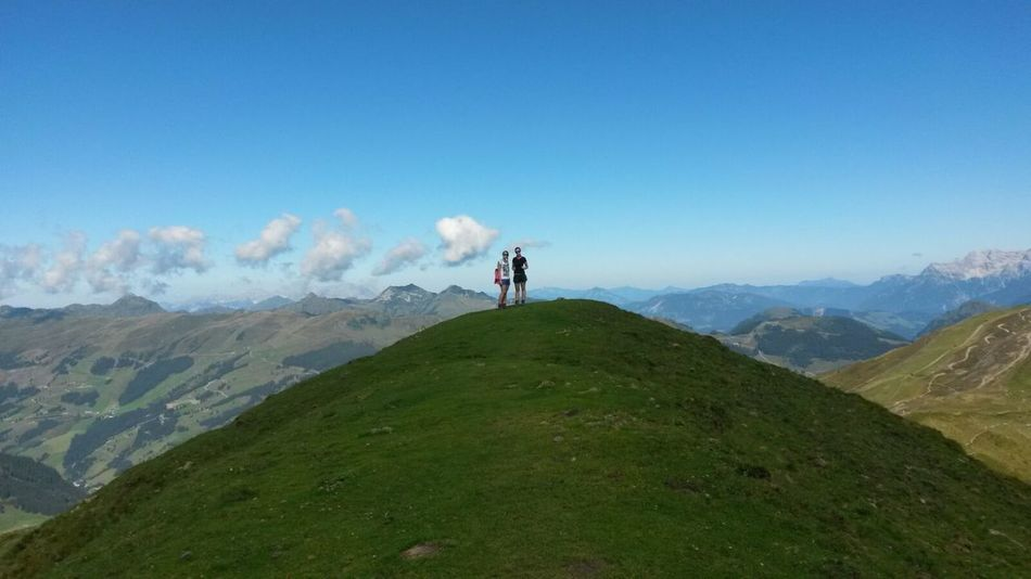 Mountain Hiking Nature Sky Getting Away From It All No Filter Goodtime ❤️ Best Weather Summer In The Mountains Far Far Away Saalbach Sunshine ☀ Austria Sister❤ Lonely People People And Places