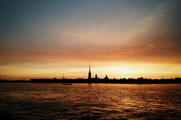 Sunset Saint-p Cityscapes Architecture