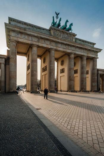 Brandenburg gate against sky in city