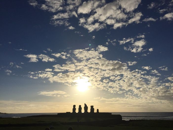 Ahu Tahai Easter Island Ahu Tahai Sky Sunset Nature Sun Beauty In Nature Sunlight Outdoors Tranquility Scenics Cloud - Sky Chile No People Isla De Pascua Architecture Skyscraper