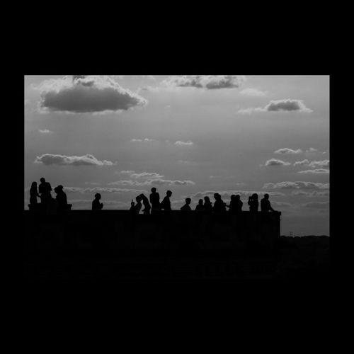Silhouette Loire Valley Touraine Monochrome _ Collection Blackandwhite Blackandwhite Photography Black & White Cloudporn Clouds Noiretblanc