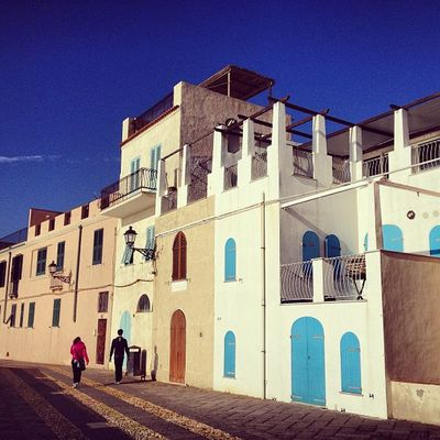 "A few days ago in #alghero / for the unending series ""my favourite little blue house by the sea"" Alghero"