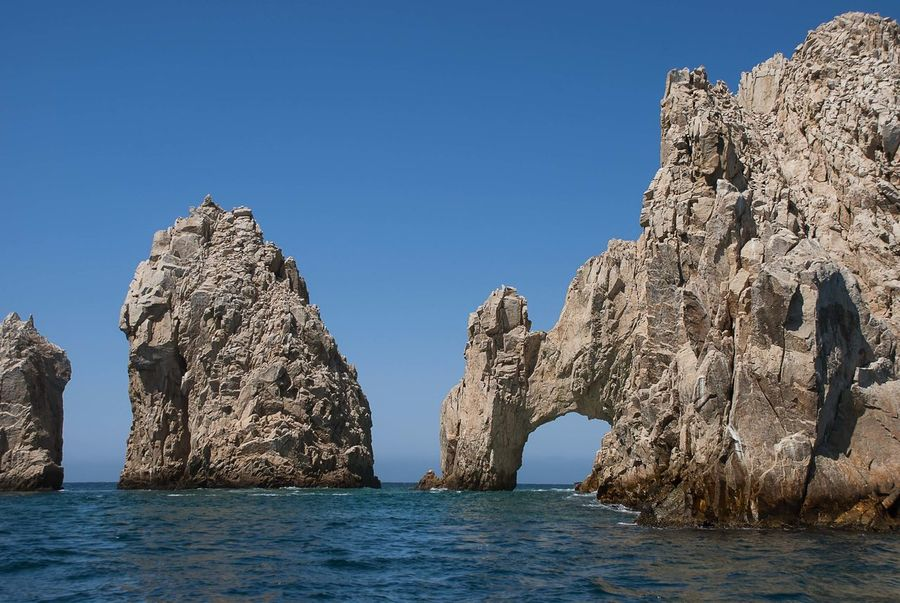 The Arch at Lands End, Cabo San Lucas, Baja California. Baja California Sur Cabo San Lucas Los Cabos Mexico Baja California Beauty In Nature Cabo Cliff Lands End Natural Arch Nature Outdoors Rock - Object Rock Formation Sea