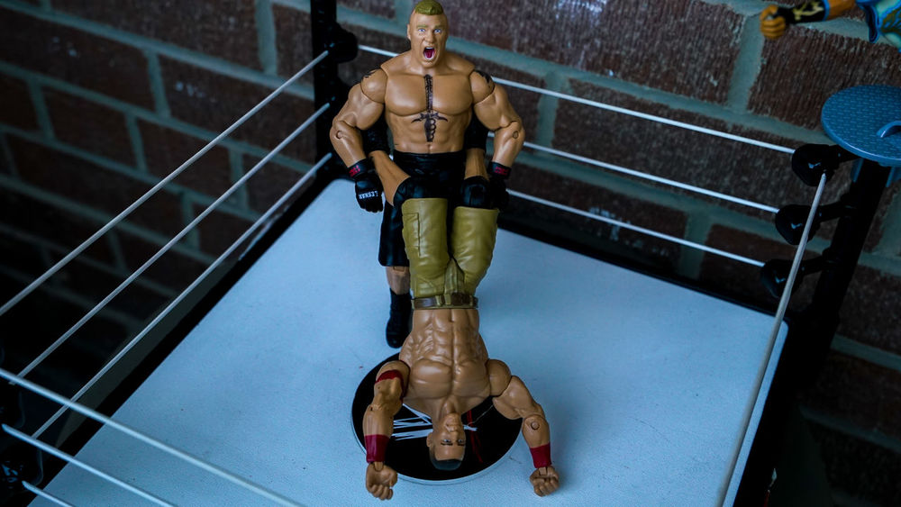 Actionfigurecollections Actionfigurephotography Actionfigures BrockLesnar Check This Out Enjoyment Fun JohnCena Toy Toyphotography Toys Wrestling Wwe WWE RAW