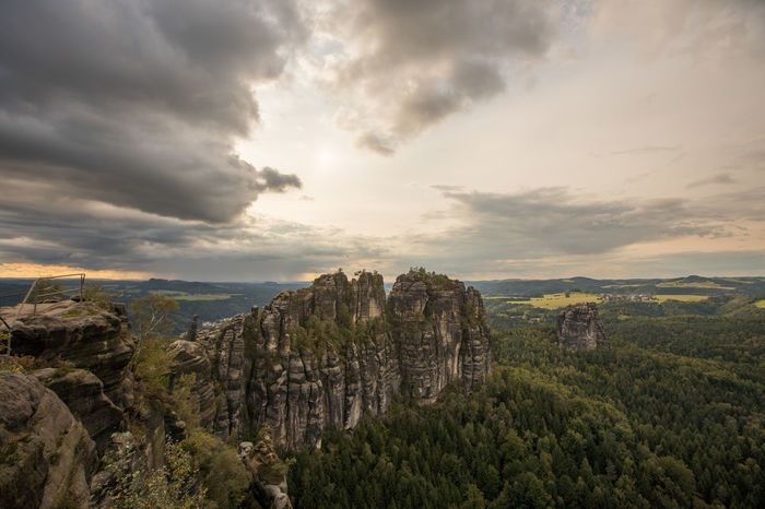 Sonnenuntergang Sunset Sky Mountains And Sky Elbsandsteingebirge Elbsansteingebirge Elbsandstein Gebirge Cloud - Sky Beauty In Nature EyeEmBestPics EyeEm Gallery Tree Green Color No People Nature Landscape Outdoors Day