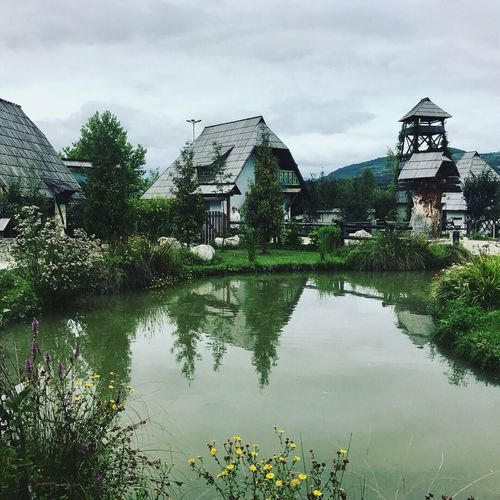 Bosnia Built Structure Architecture Building Exterior Water House Sky Tree No People Outdoors Tranquility Cloud - Sky Day Tranquil Scene Beauty In Nature Nature Plant Growth Flower Watermill Grass Mountain Range Nature_collection Scenics Tranquility Landscape