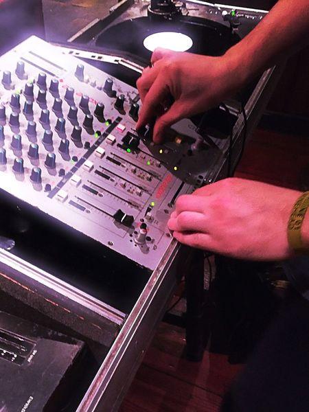 Djing Partying Decks Vinyl Records Turntable Tunes Pub Mixing Records Mixing Sound Music Equipment Music Club Night Hands Hands At Work DJing Djs At Work Dj Spinning Vinyl