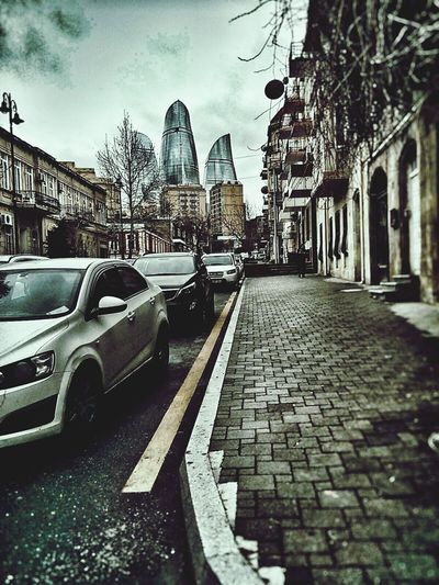 Baku Azerbaijan Streetphotography Flame Towers Car By Me 👆