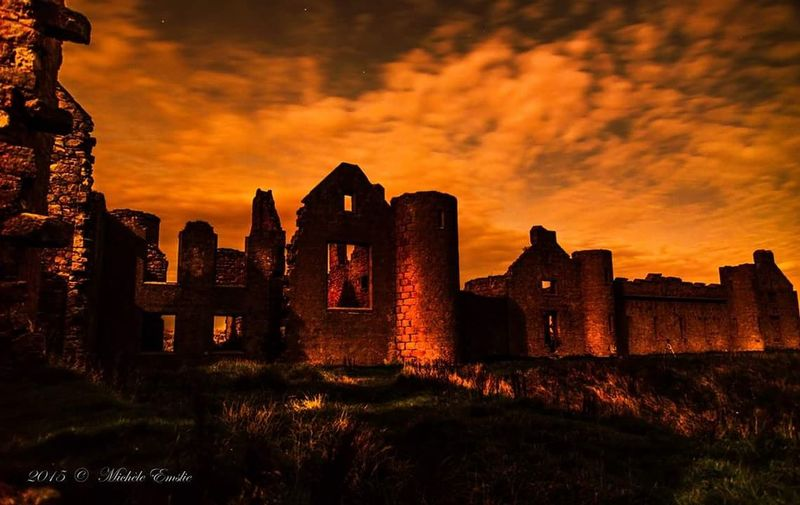Night Of The Red Blood Moon....at Slains Castle Cruden Bay Aberdeenshire Scotland belived to be some inspiration to Dracula written by Bram Stoker Vampires Dracula's Castle