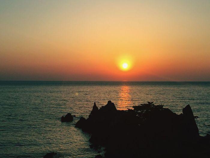 越前岬 福井市 夕日 Sunset