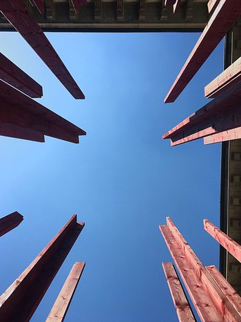 Point of view Architecture Built Structure Blue Low Angle View Sky Building Exterior Clear Sky