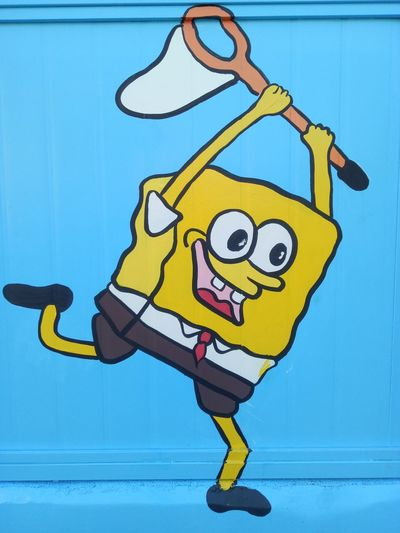 Blue Jazz Music Saxophone People Outdoors One Person Day Adult Sky Spongebob Spongebobsquarepants Spongebob! Spongebob Squarepants
