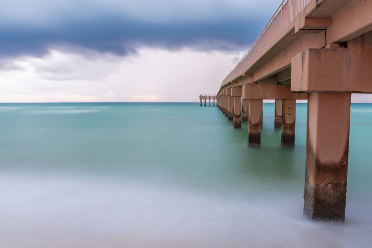 Pier Architecture Beach Beauty In Nature Building Building Exterior Built Structure Cloud - Sky Horizon Horizon Over Water Land Nature No People Outdoors Scenics - Nature Sea Sky Tranquil Scene Tranquility Travel Destinations Water