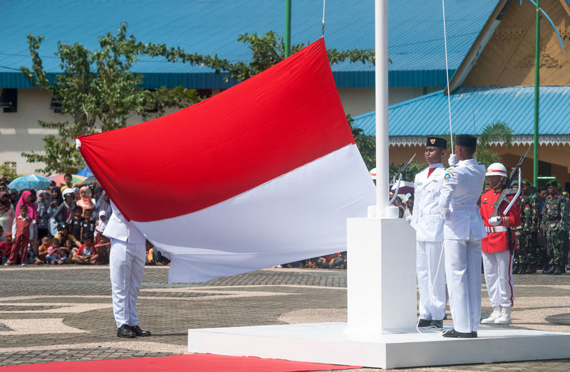 HUT RI KE 71 17 Agustus 2016 Bintan  Bintan Island Bintanisland Ceremony Day Flag Independence Day Indonesia Flag MERAH PUTIH INDONESIA Multi Colored National Flag Outdoors Paskibra Red RI71 Sunlight Sunny