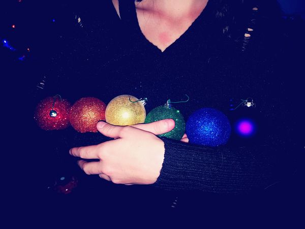 One Person Beauty Real People Multi Colored Party - Social Event Holiday Girls Tradition Celebration Holiday - Event Christmas Decoration Christmas Christmas Ornament Balls Holding Lgbt Rainbow Utah Washington Terrace