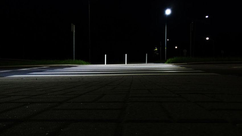 Sikorskiego Illuminated Lighting Equipment Miasto Night Noc Outdoors Street Street Light Ulica Wałbrzych