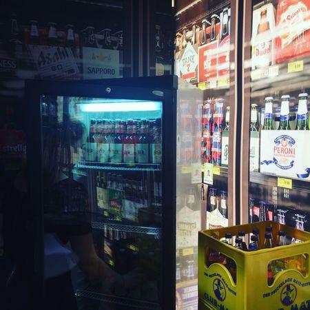 Beer Beers Drinks Girl Neon Night Night Shop Nightphotography Soda Späti