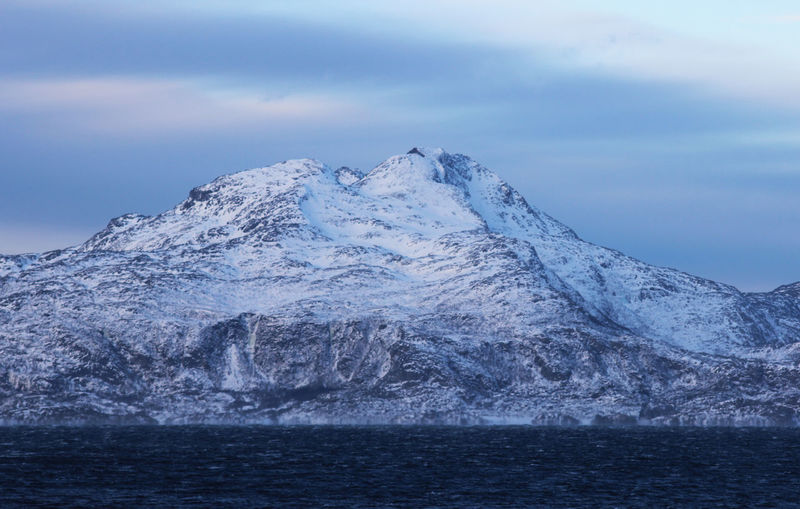 Snow on the mountains by the sea Water Sky Beauty In Nature Sea Scenics - Nature Cold Temperature Waterfront Winter Mountain Nature Snow Tranquil Scene Tranquility No People Cloud - Sky Environment Day Landscape Ice Outdoors Snowcapped Mountain Mountain Peak Bodø Norway🇳🇴