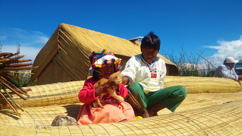 Indian Children Native Native Child Puno, Perú Titicaca Lake