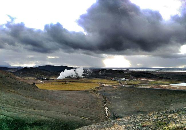 Geothermal  Landscape Steam Iceland