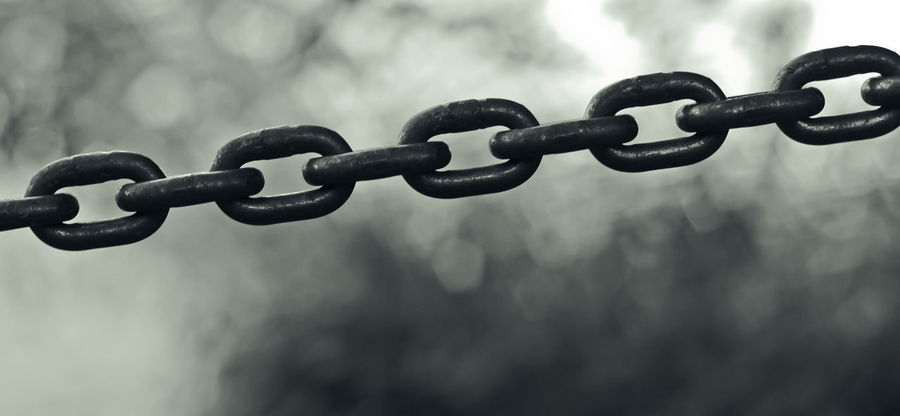 Links of a chain, close up photo. Chain Close-up Day Links Metal No People Outdoors Strength Teamwork Work