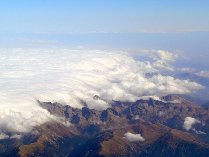 Aerial View Beauty In Nature Cloud - Sky Clouds Crawling Over Mountains Landscape Mountain Nature No People Scenics Sky Tranquil Scene Tranquility EyeEmNewHere EyeEmNewHere