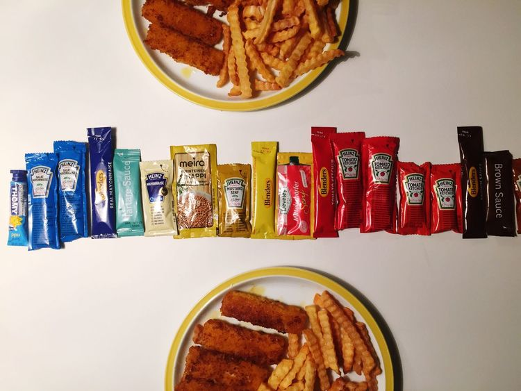 Hard Choice Sauces Chips Fishfingers