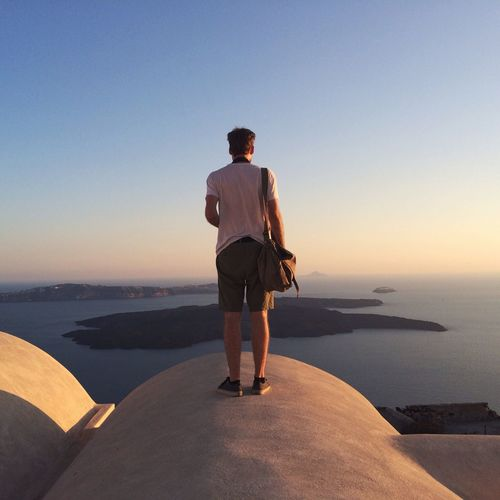 Me standing on a church on magical Santorini Santorini VSCO Greece From The Rooftop ThatsMe Portrait