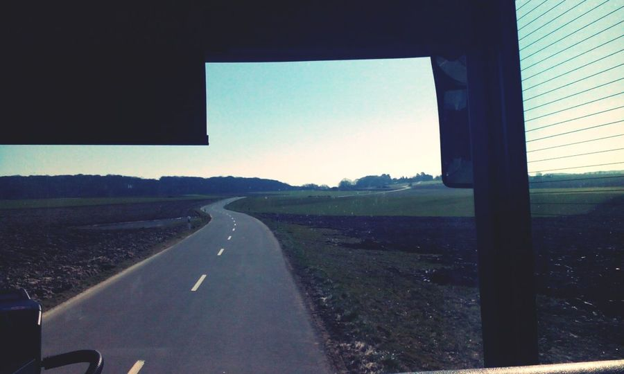 Taking Pics While Driving Vanishing Point Landscape_Collection Luxembourg Nature Watching Out Of Window Bus View Feels Like Summer My Daily Commute