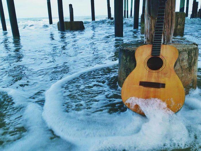 Driftwood Photography Art Ocean Guitar Music Driftwood Rockstar Rock'n'Roll Life Is A Beach OpenEdit