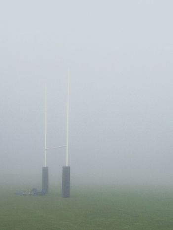 Fog No People Day Outdoors Sky Vapor Trail Rugby Rugby TIME Rugby Union Rugby Field Field Morning Game Time! Freshness Fresh