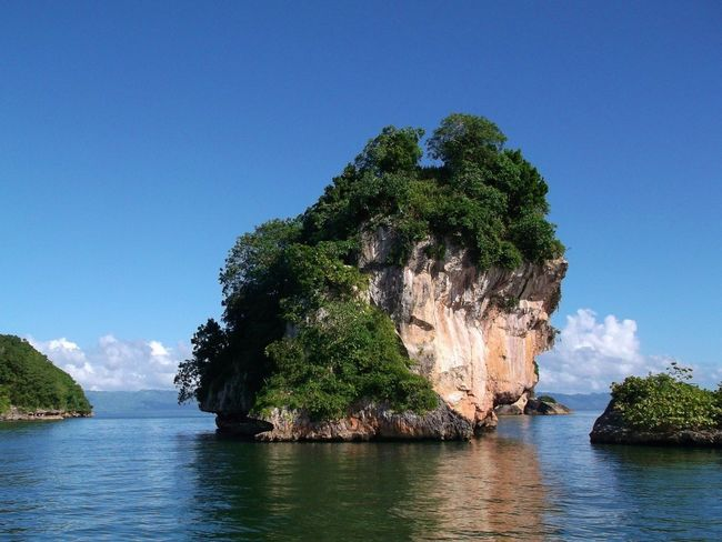 The Rock Insel Island Dominican Republic Ocean Water Blue Nature Outdoors Clear Sky