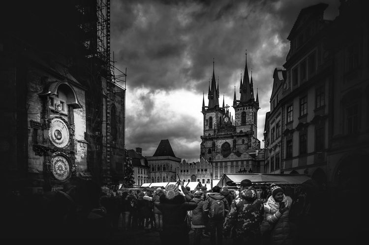 Prague II blackandwhite monochrome Prague bw_photooftheday photooftheday EyeEm Best Shots EyeEm Selects EyeEmBestPics darkness and light Churc Blackandwhite Monochrome Prague Bw_photooftheday Photooftheday EyeEm Best Shots EyeEm Selects EyeEmBestPics Church Place Of Worship Statue Sky Architecture Building Exterior Built Structure Medieval Gothic Style Old Town Bell Tower Abbey Castle Cathedral