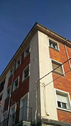 Corner Sky City Outdoors No People Day Low Angle View Building Exterior Architecture Façade Brick Wall Brick Bricks Oviedo Asturias Spain🇪🇸 Teatinos