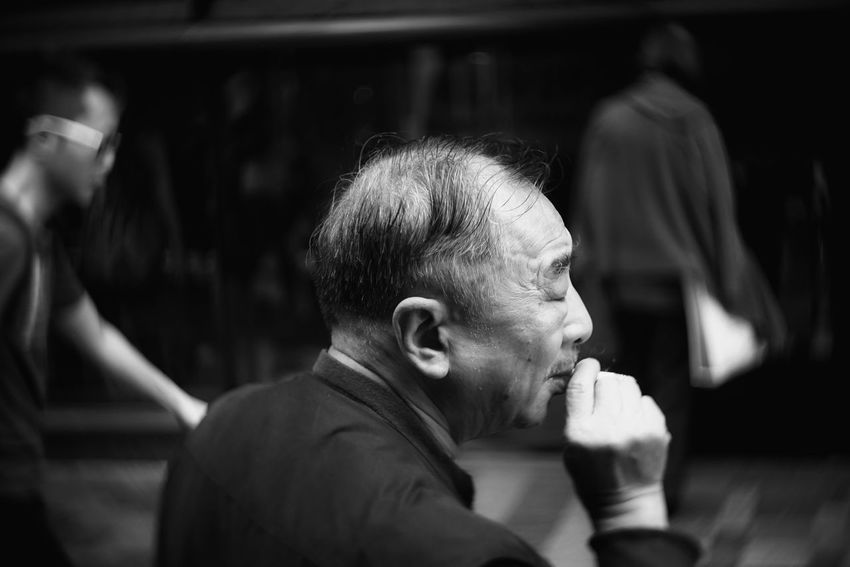 Black And White Real People Men Close-up Sony Hong Kong Outdoors Tim Wong