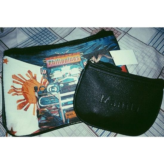 My new pouch and coin purse from Kultura Manila Philippines