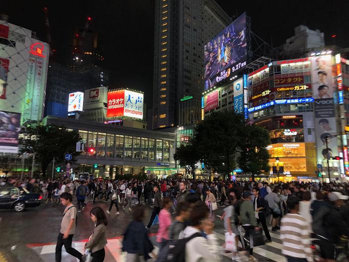 Shibuya Shibuyascapes City Street Crossing Shibuya Crossing