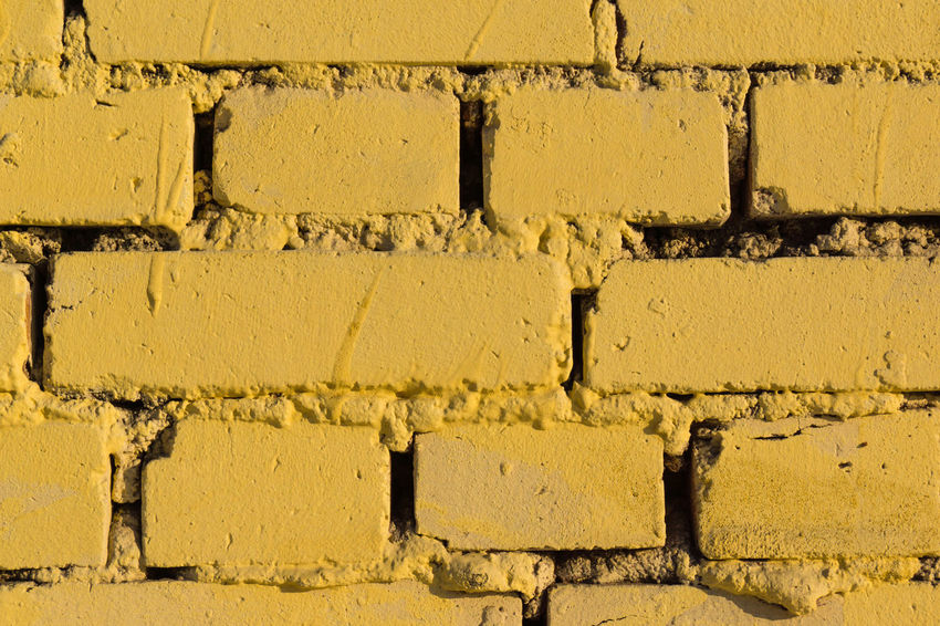 Backgrounds Brick Wall Close-up Full Frame No People Outdoors Paint Textured  Yellow