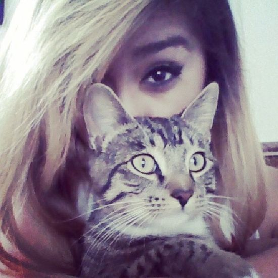 Bored with Ma cat. He doesn't even like me ): Lames Sleepy He 'ssofluffyThemeyes blondekillerstillsane.
