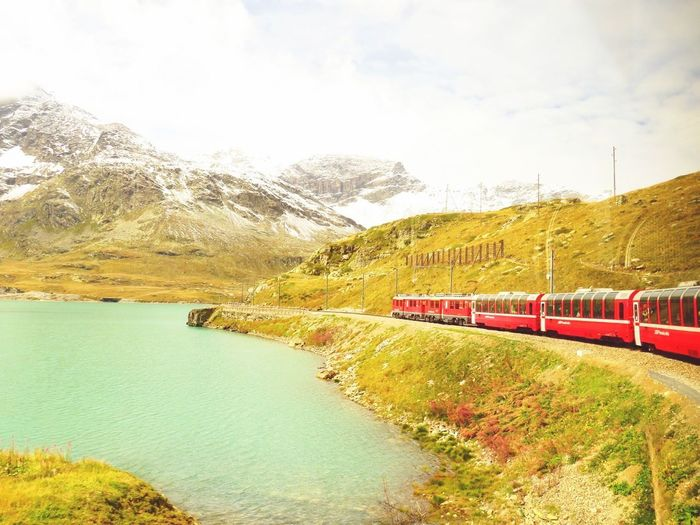 Beauty In Nature Outdoors Sky Scenics Switzerland Alps Bernina Express Holiday The Alps