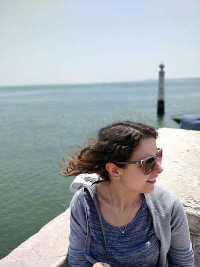EyeEm Selects Water Sea Young Women Portrait Beautiful Woman Beach Beautiful People Women Clear Sky Beauty