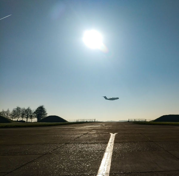 A400M lowpass Flying Airplane Sunlight Airport Runway Outdoors A400M A400MAtlas Armeedelair Avion Aeroport Lowpass AirForce ♥ Frenchairforce Plane Airport Aircraft Day Sunbeam