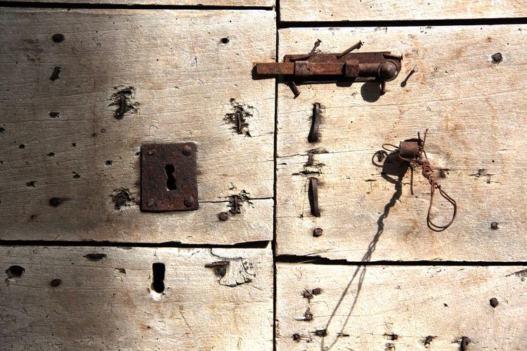 Druri Legno Legno Wood Legnolavorato Old Door Porta Vecchia Serratura Wood