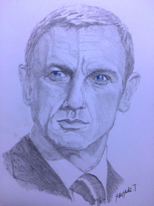 ArtWork Drawing Daniel Craig MyDrawing Art, Drawing, Creativity James Bond 007 Hello World