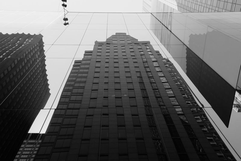 MoMa, NYC Blackandwhite Bw_collection Bnw Newyorkcity Newyork NYC Moma N.Y. Moma Architecture Built Structure Modern Skyscraper City Low Angle View