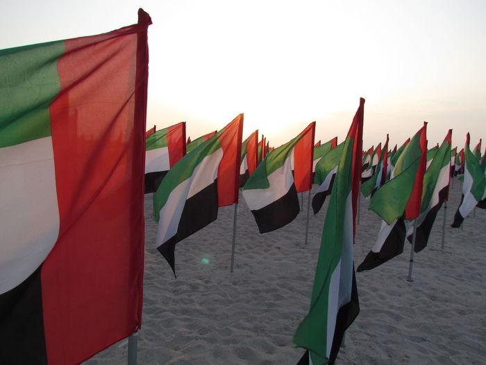 Dubai Flag Jumeirah Jumeirahbeach My Dubai National Flag Outdoors Red Sunset UAE UAE NATIONAL DAY Wind