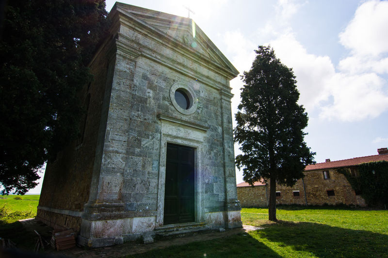 Architecture Building Exterior Built Structure Day Grass History No People Outdoors Pienza Italy Place Of Worship Sky Tree